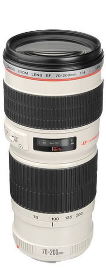 Canon 70-200mm f/4 lens