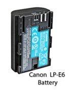 Canon LP-E6 battery for Canon 60D