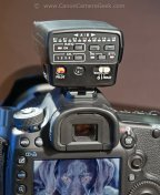Canon Speedlite Transmitter ST-E2 on Top of Canon 5D Mark III
