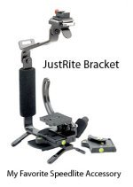 My Favorite Canon Speedlite Accessory is the JustRite  Rotating Camera Bracket