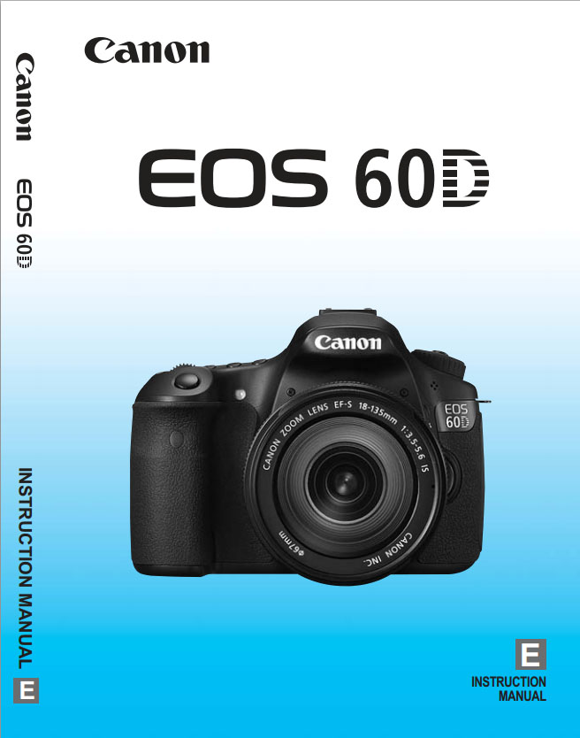Canon 60D Manual - Photo of Instruction-Specs Manual