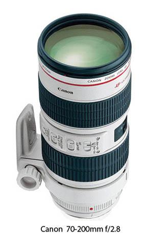 Canon 70-200 f2.8 zoom telephoto lens