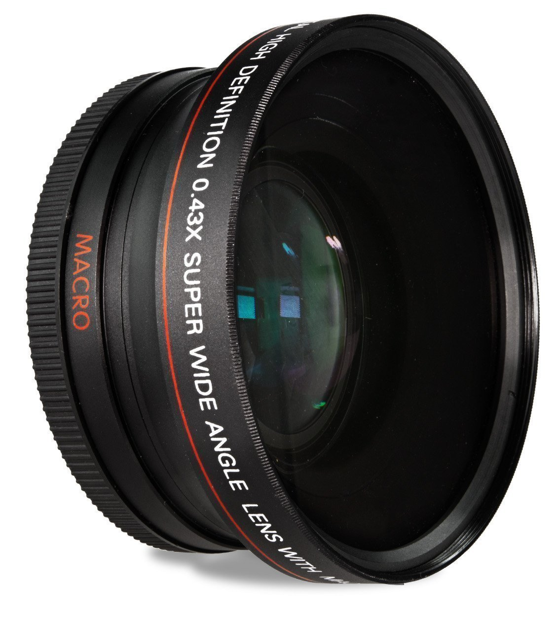 Screw-on wide angle lens