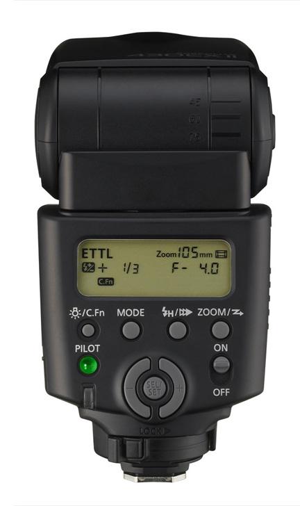 Back view of Speedlite 430EX-II flash