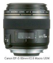 Canon EF-S 60 f2.8 macro lens for Canon