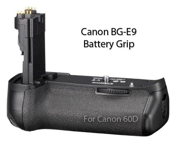 Canon battery grip BG-E9 -Diagonal view