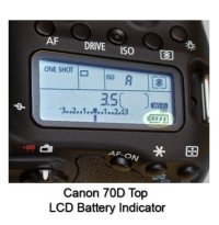 Canon 70D Top-LCD Battery Power Indicator
