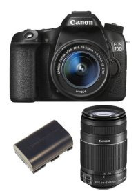 70D kit with two lenses