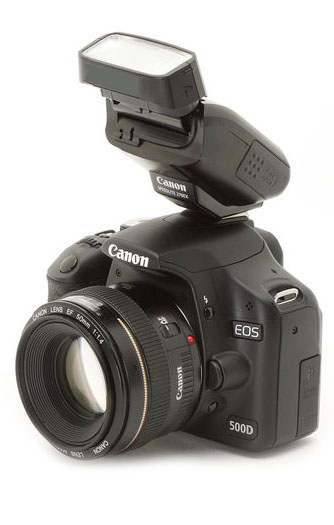 Canon DSLR with 270EX II Attached