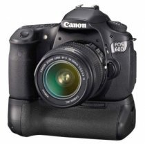 Canon 60D battery grip on the EOS 60D