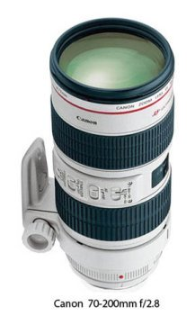 Photo of the Canon 70-200mm lens - waiting for just the right accessory