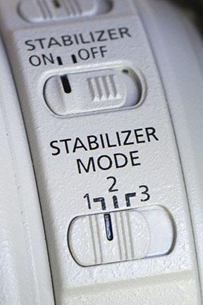 Canon 100-400 Image Stabilization Mode 1