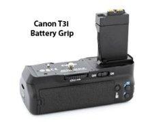 The t3i takes the Canon BG-E8 battery grip