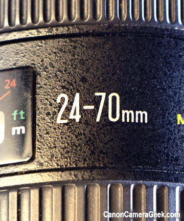 24-70mm zoom range lens