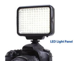 You can use an LED light panel instead of the pop-up flash on the Canon t3i