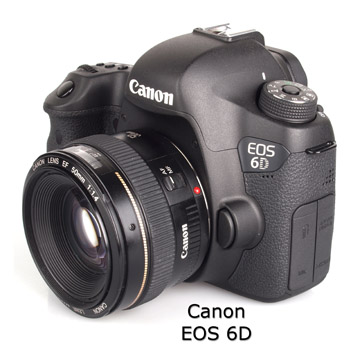 Canon EOS 6D Camera With Lens Attached