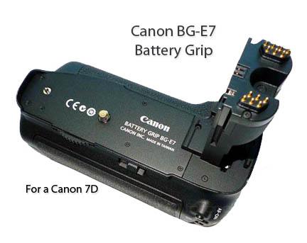 Top View of Canon BG-E7 Battery Grip