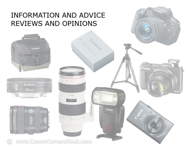 Canon Camera Geek - Photo of accessories, lenses and cameras