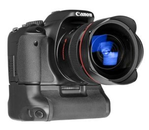 The Canon t3i battery grip adds weight, balance, vertical controls and reserve power