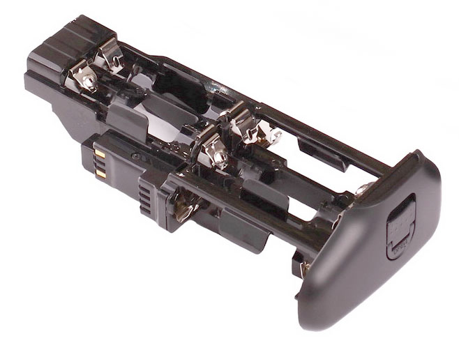Battery tray for inserting AA batteries into Canon 70D grip