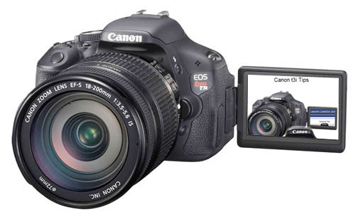Canon t3i tips on LCD screen