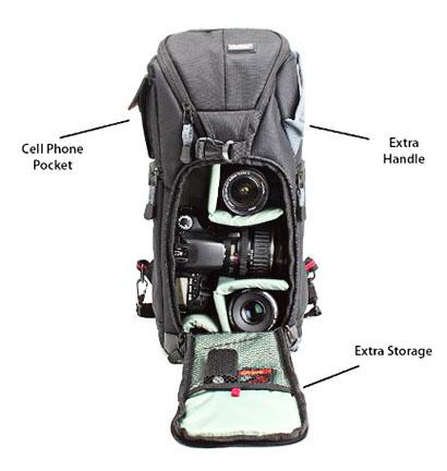 Tall camera sling bag