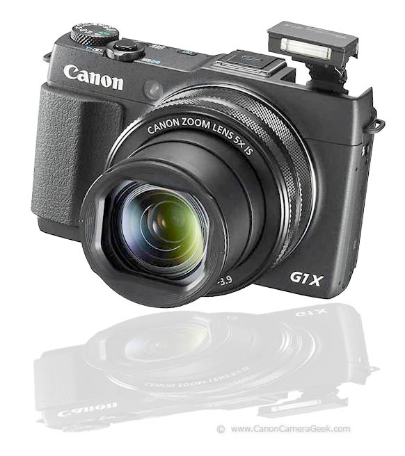 Reflection photo of canon G1x Mark II Camera