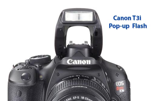 The Canon t3i flash has versatility