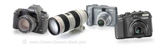 Canon camera reviews-montage of canon cameras