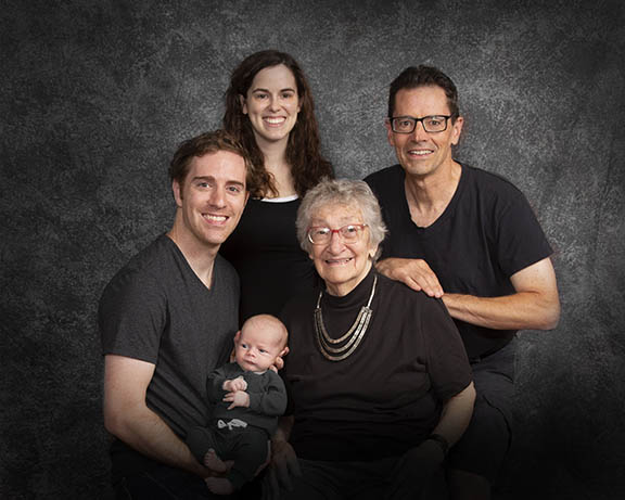4 generation family portrait