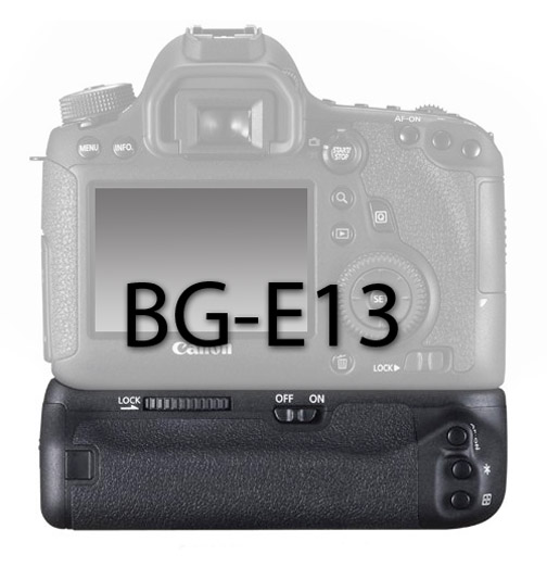 Camera on a Canon BG-E13 Battery Grip