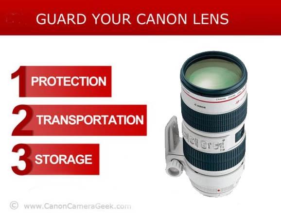 Canon lens protection