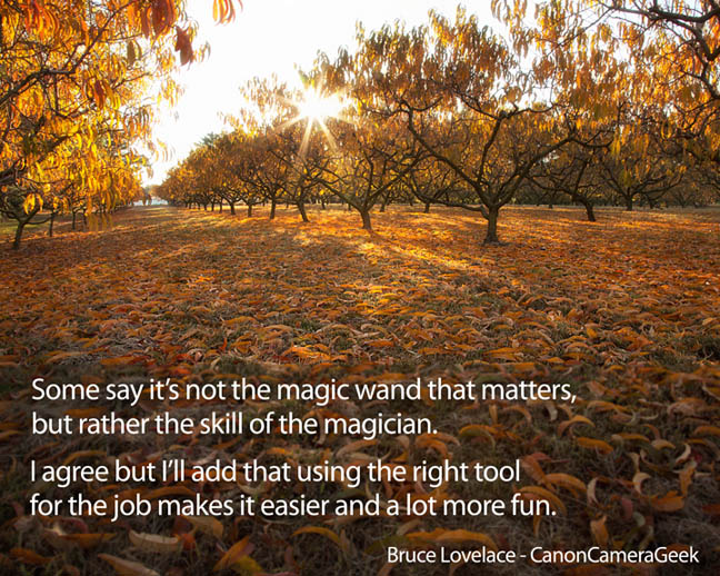 It's not the magic wand, but the skill of the magician that matters