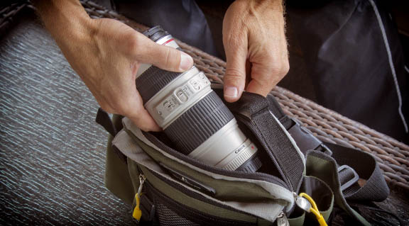 The EF 70-200 f/4.0 compact enough to fit in belt-pack