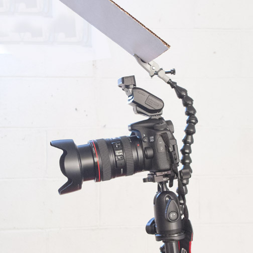 Canon Speedlite 270EX II Bounced on Reflector Card and Help by Wimberly Plamp II