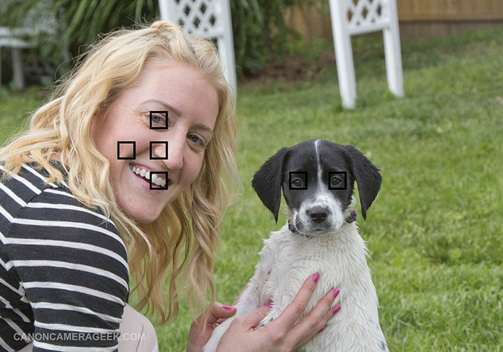 Canon 90D Face Detection Focus Example