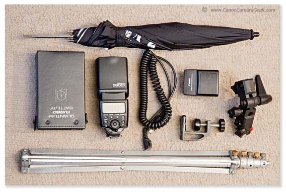 All Equipment used in Canon Speedlite Portrait