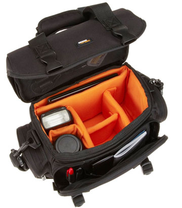 Amazon Basics DSLR Gadget Bag Inside