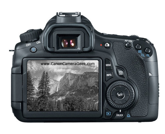Back View of Canon EOS 60D Camera