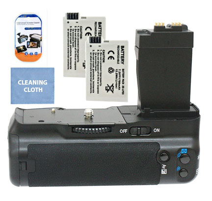 Affordable battery grip kits are available for the Canon t3i camera