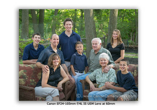 Best Canon lens for family portrait is the 24-105