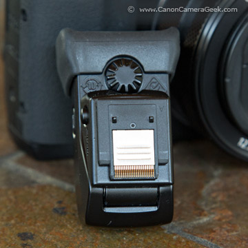 Bottom of Powershot G1X Mark II Electronic Viewfinder