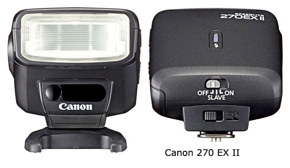 Canon 270 EX II flash for Rebel Cameras