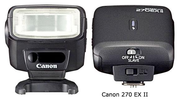 Canon 270 EX II flash for Rebel Cameras