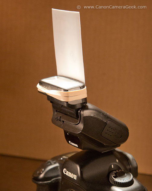 Do it yourself - homemade diffusing-bounce for Canon 270EX II Speedlite