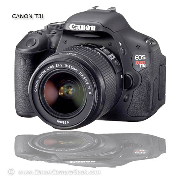 Front view of Canon T3i EOS Rebel