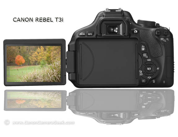 Canon T3i with rotating, muliple-angle LCD