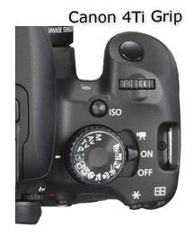Canon T4i-4Ti grip-top view