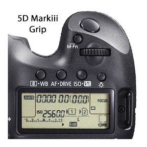 Canon 5D Mark iii Grip-top- view