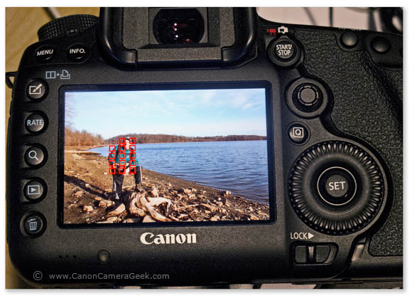 Focus points on Canon 5d Mark III Intelligent Mode